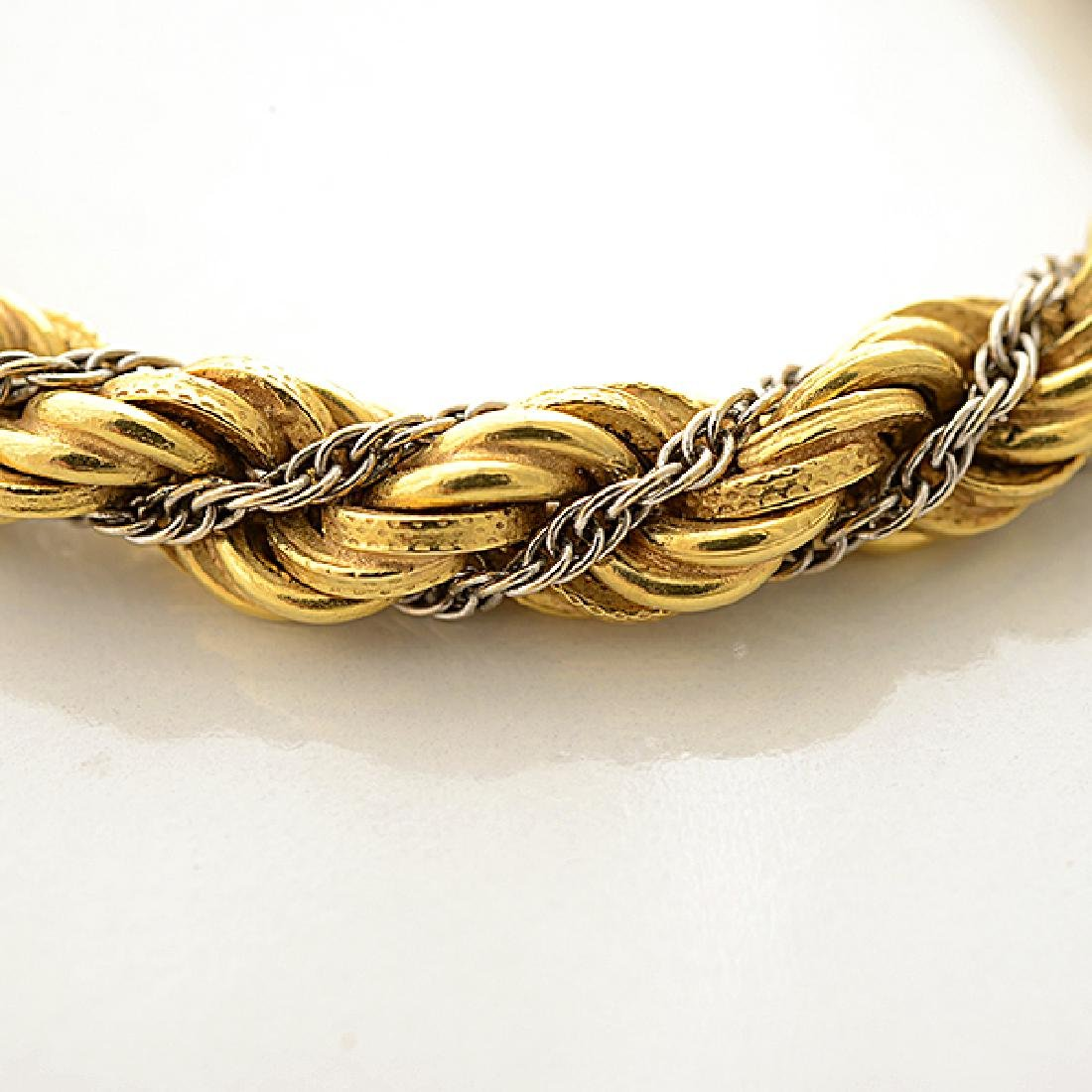 18k Gold Long Chain Necklace. - 2