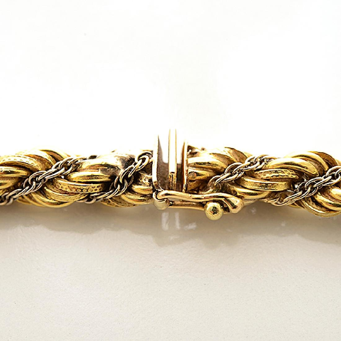 18k Gold Long Chain Necklace. - 3