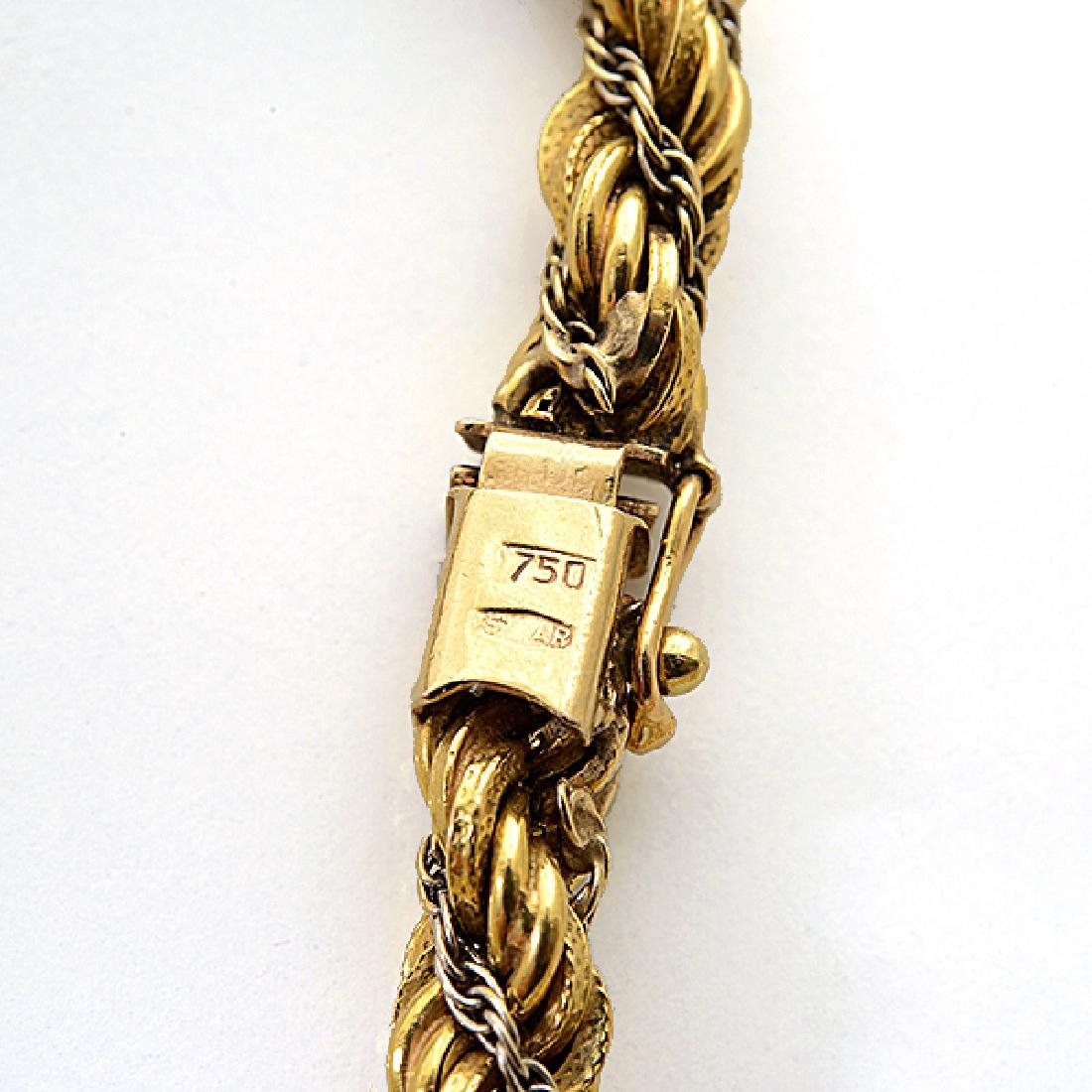18k Gold Long Chain Necklace. - 4