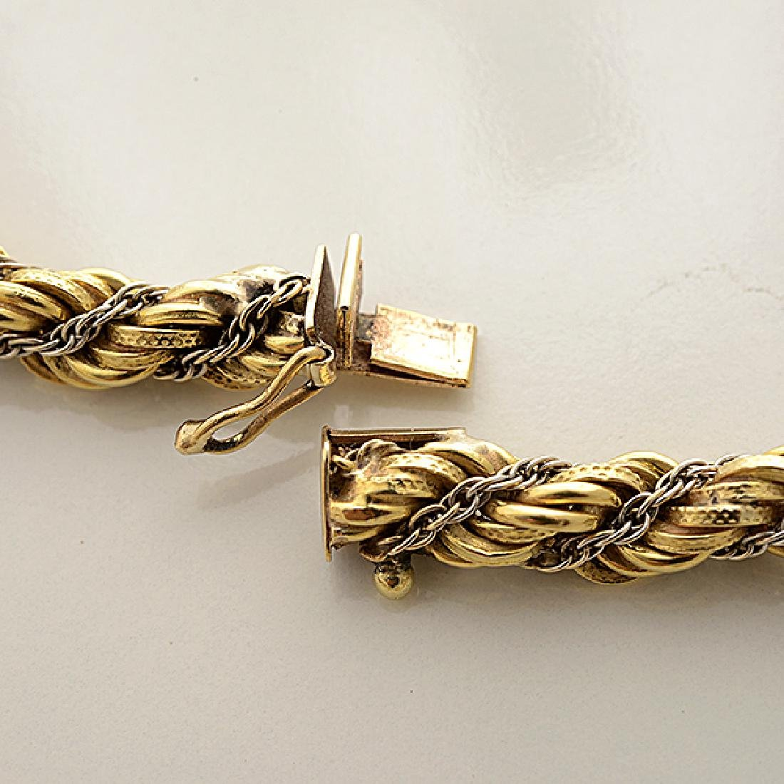 18k Gold Long Chain Necklace. - 5