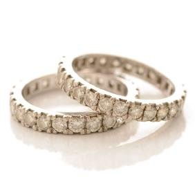 Collection of Two Matching Diamond, Platinum Eternity