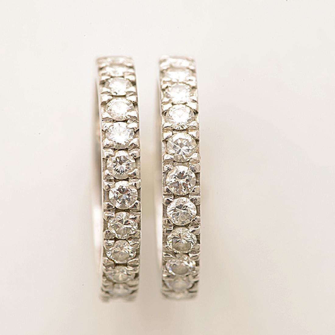 Collection of Two Matching Diamond, Platinum Eternity - 2
