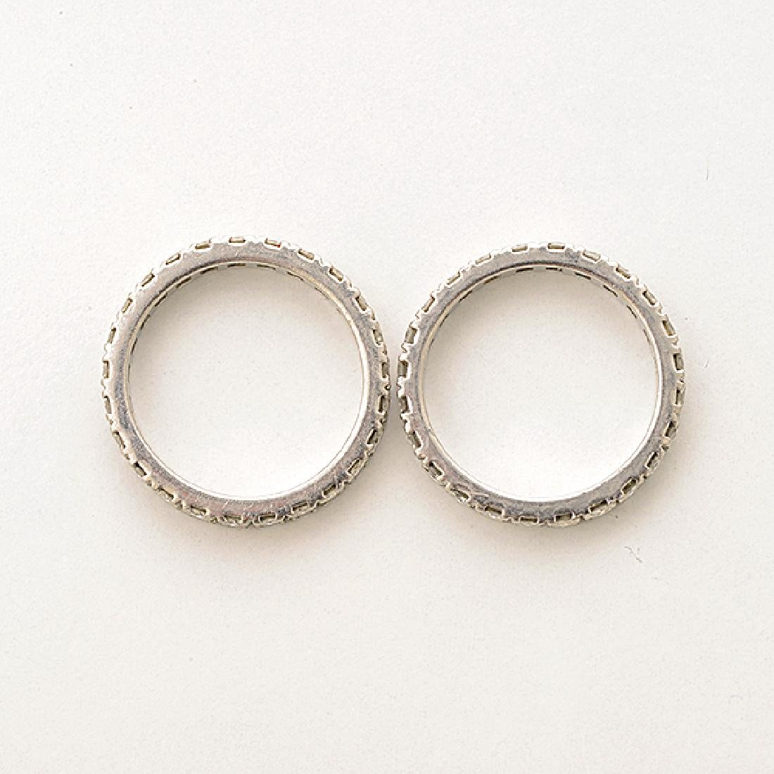 Collection of Two Matching Diamond, Platinum Eternity - 3