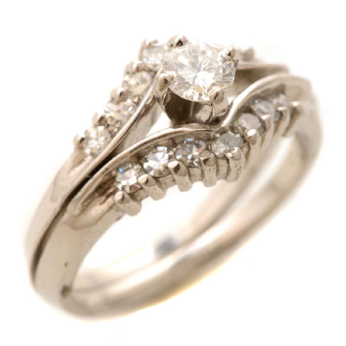 Diamond, 14k White Gold Ring Set.