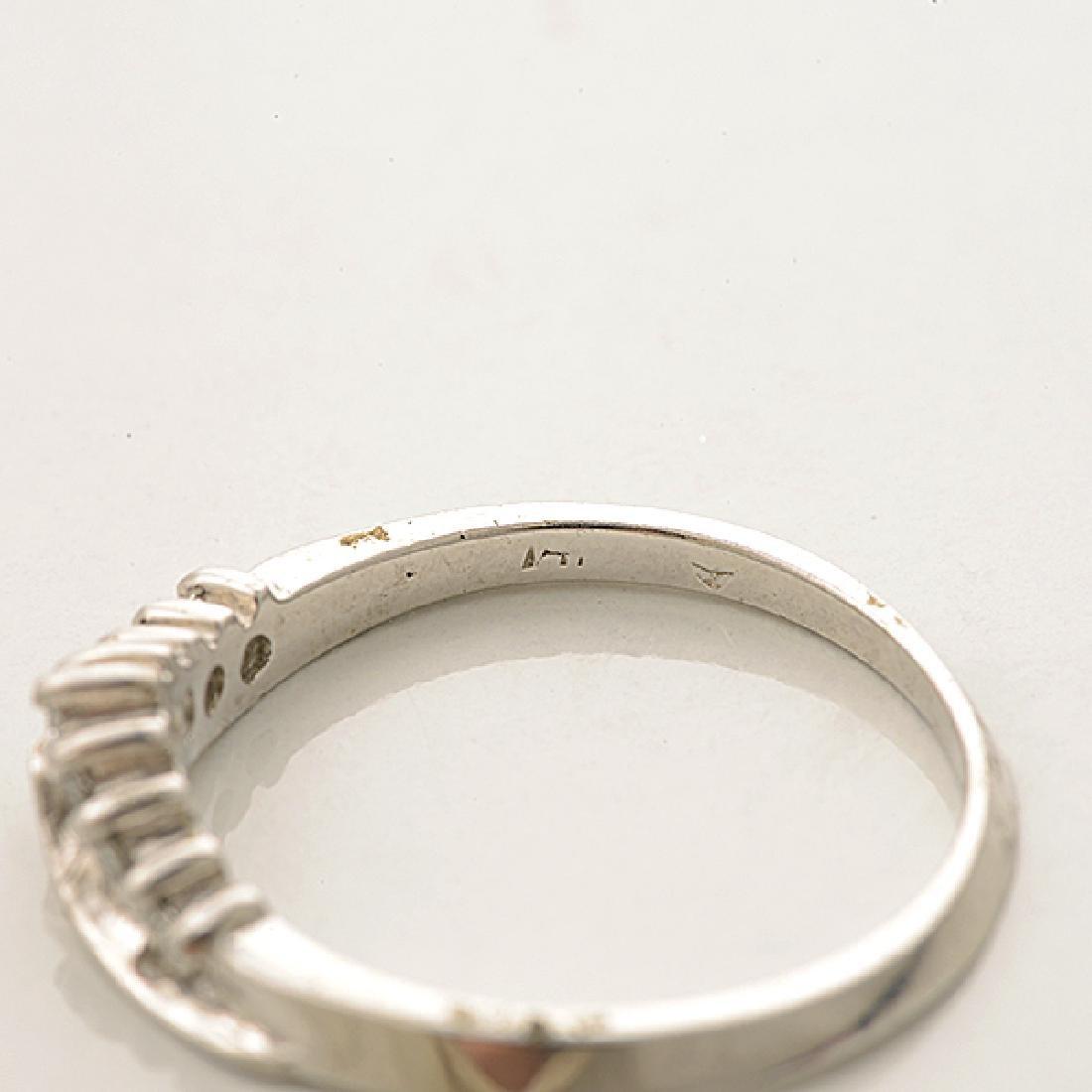 Diamond, 14k White Gold Ring Set. - 4