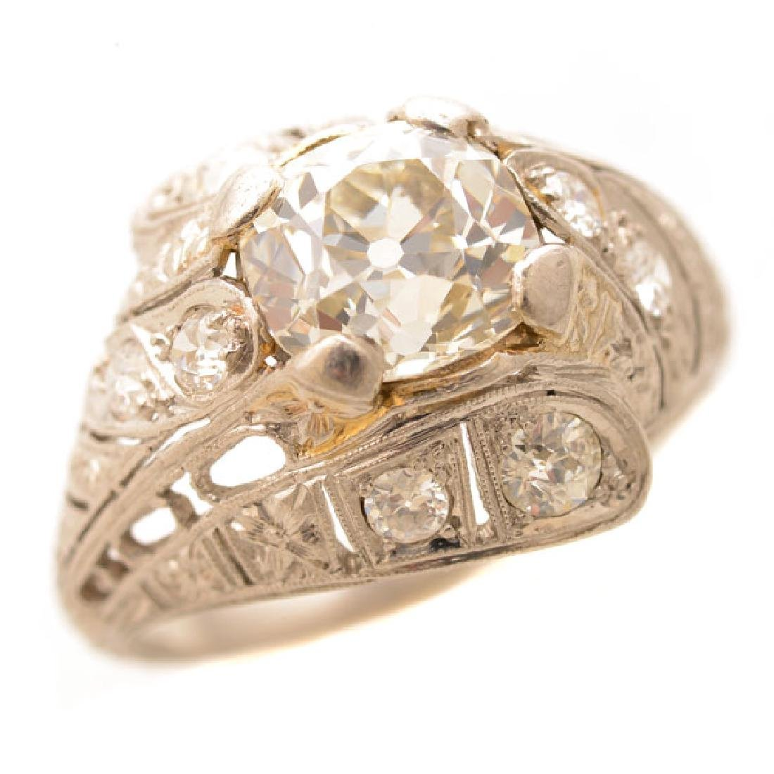 Art Deco Diamond, Platinum Ring.