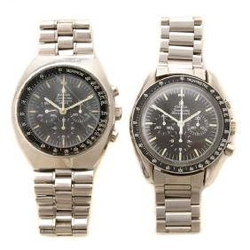 Collection of Two Omega Speedmaster Wristwatches. Poor