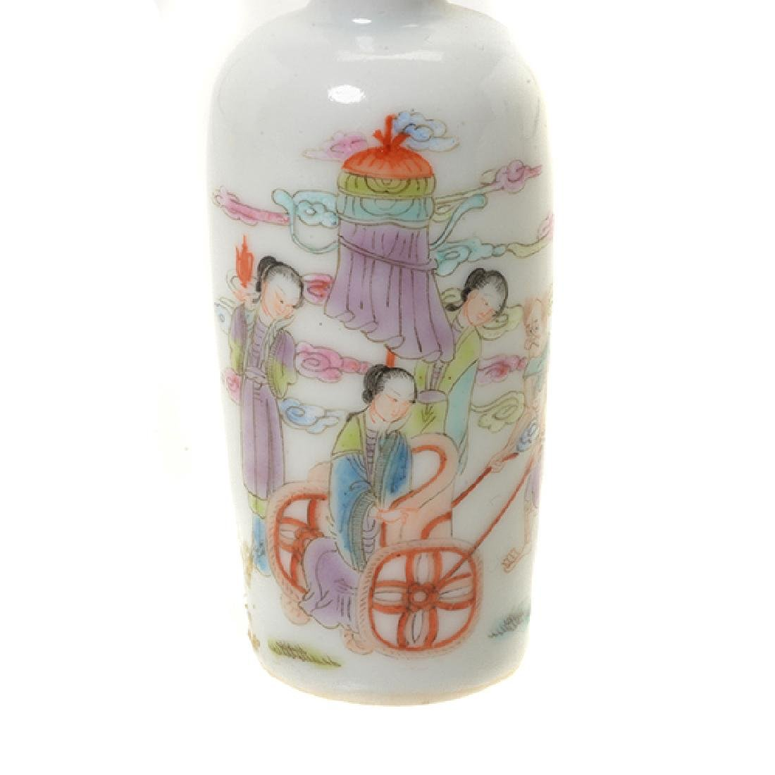 A Famille Rose Porcelain Snuff Bottle - 4