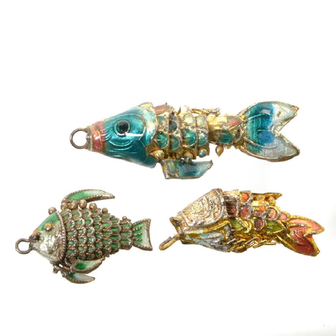 A Group of Mostly Silver Fish Models - 6