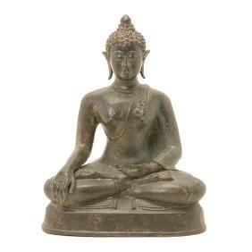 A Thai Bronze Figure of Buddha, 19th Century
