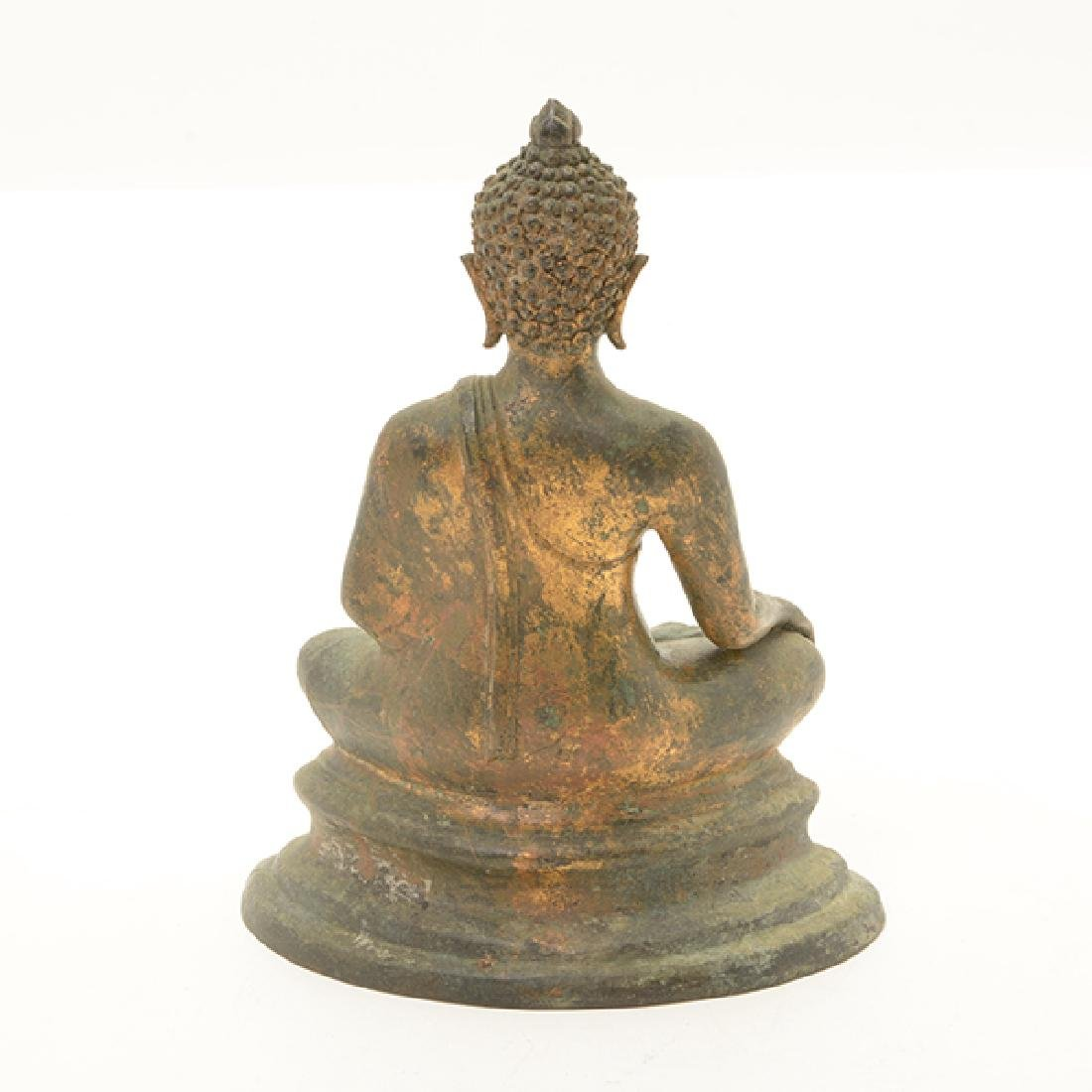 A Northern Thai Style Gilt Bronze Figure of Buddha - 3