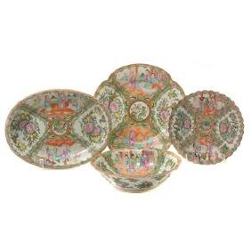 Six Chinese Export 'Canton Famille Rose' Porcelains,
