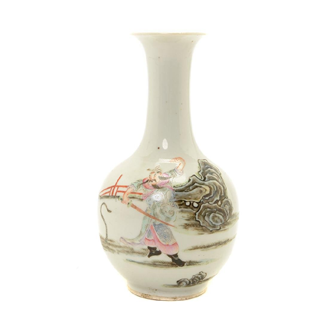 A Polychrome Enameled Porcelain Vase, Late 19th/Early