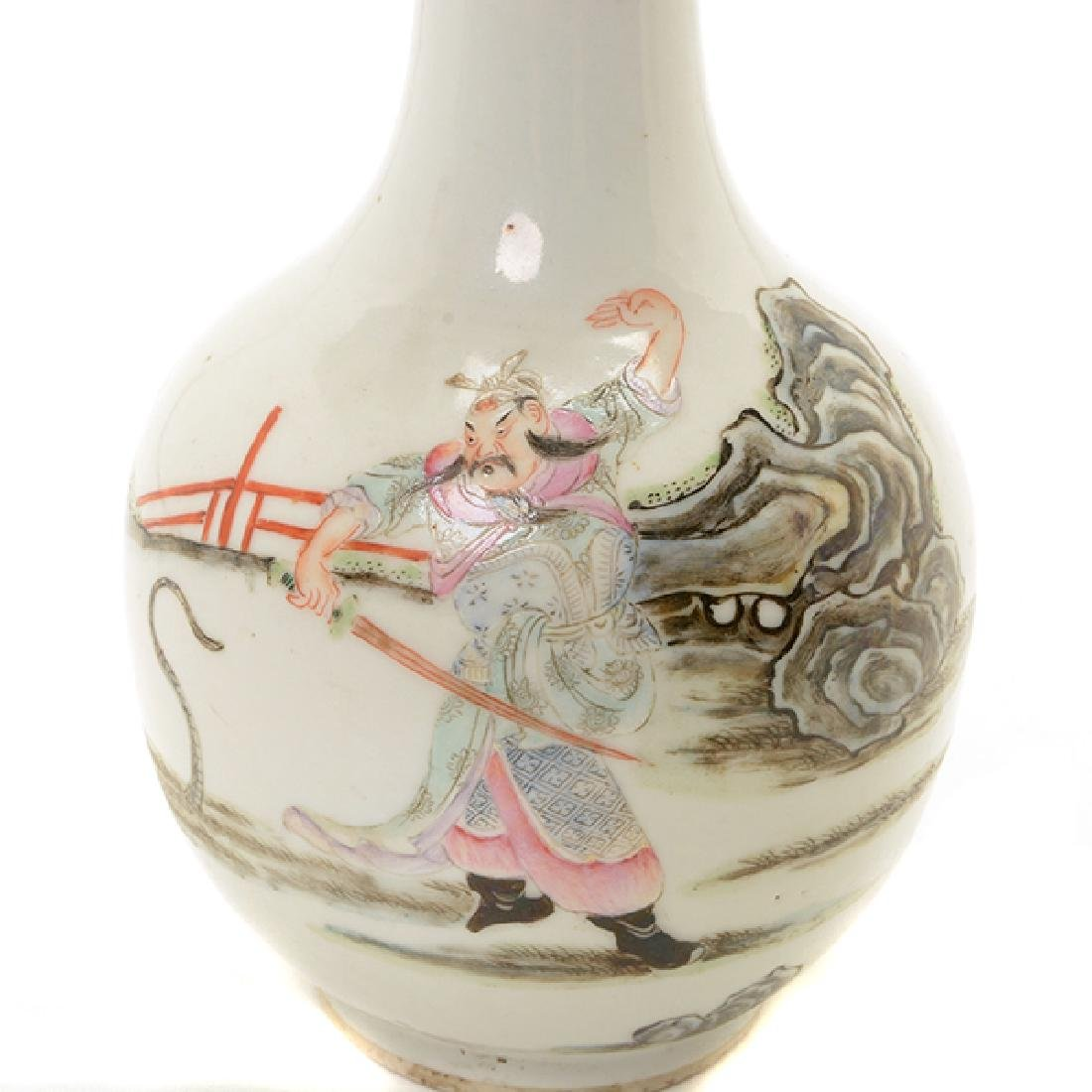 A Polychrome Enameled Porcelain Vase, Late 19th/Early - 2