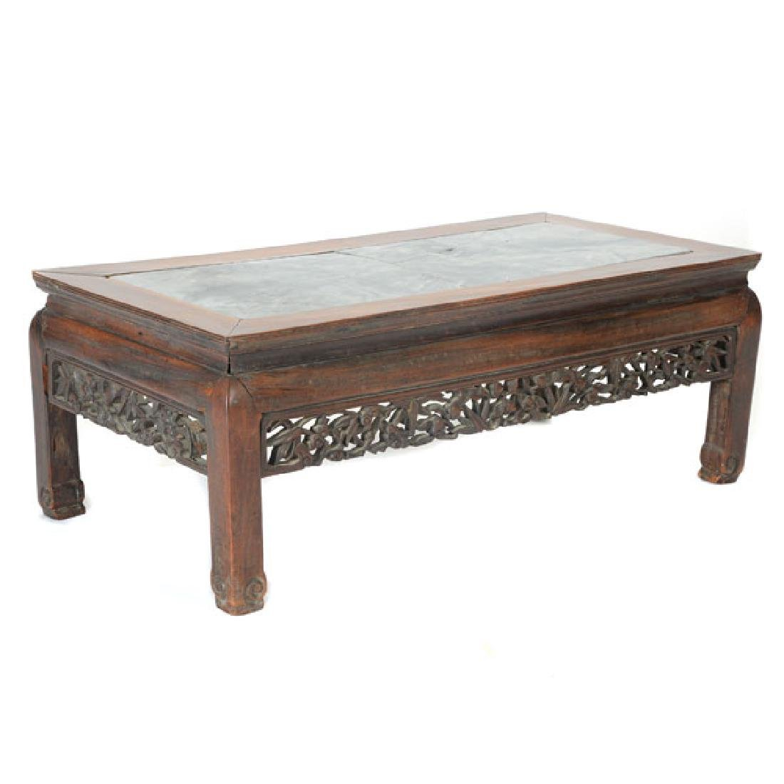 A Rosewood Low Table, Late 19th/Early 20th Century
