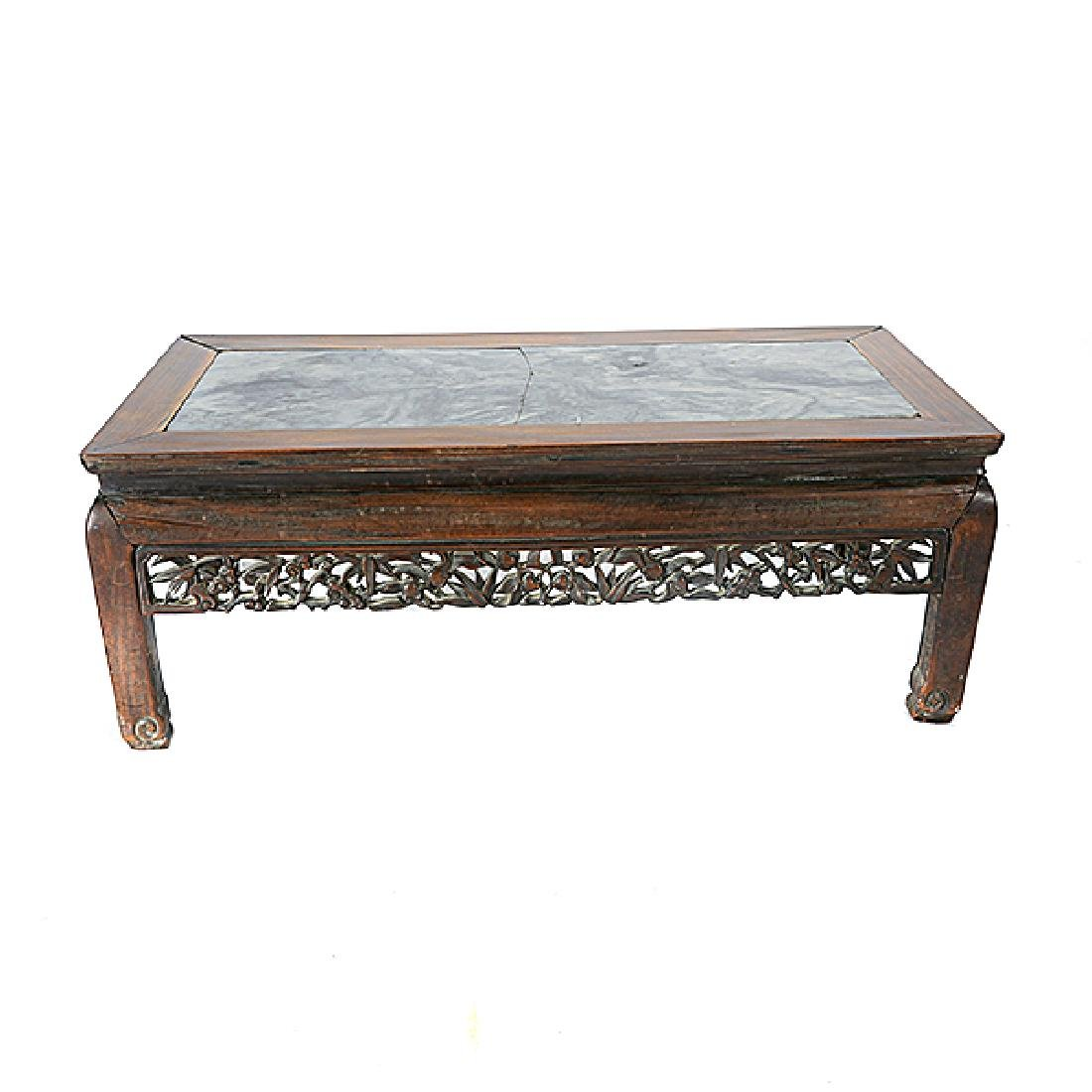 A Rosewood Low Table, Late 19th/Early 20th Century - 4