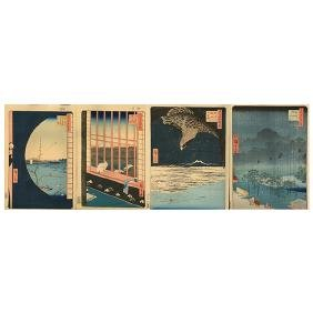Utagawa Hiroshige (1796-1858): Four Woodblock Prints
