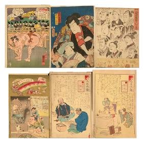 Various Japanese Artists: Six Woodblock Prints