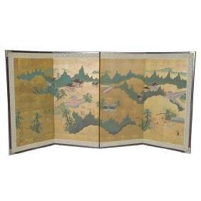 A Japanese Four-Panel Folding Screen