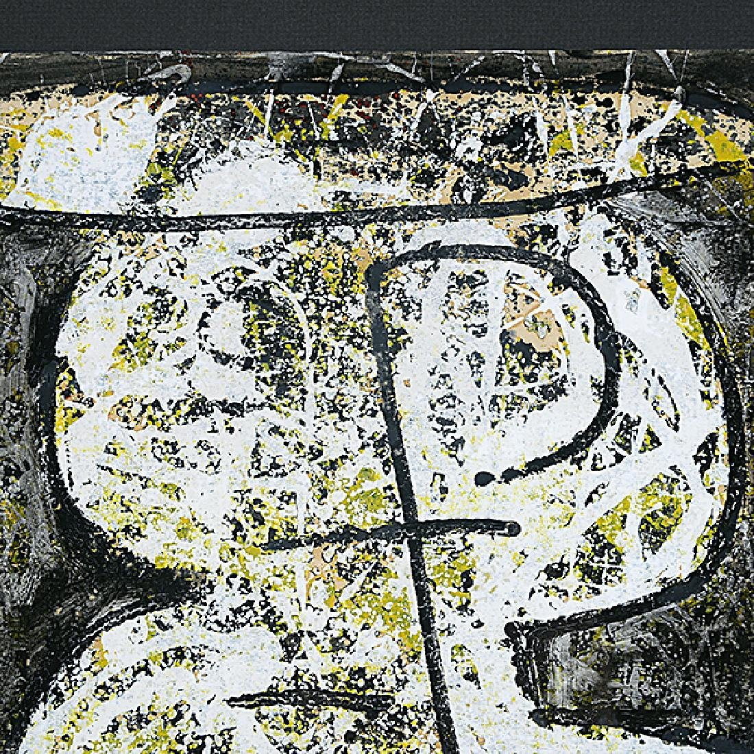 "Ota Janecek ""Abstract Figure"" mixed media on paper - 3"