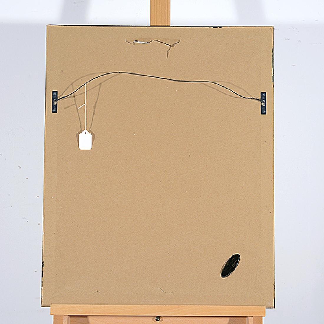 "Ota Janecek ""Abstract Figure"" mixed media on paper - 5"