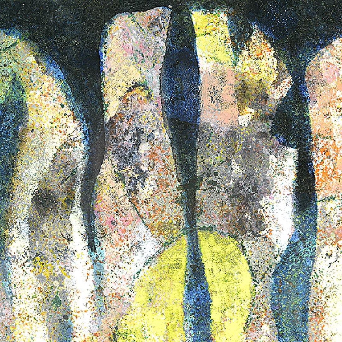 "Ota Janecek ""Three Figures"" mixed media on paper - 2"