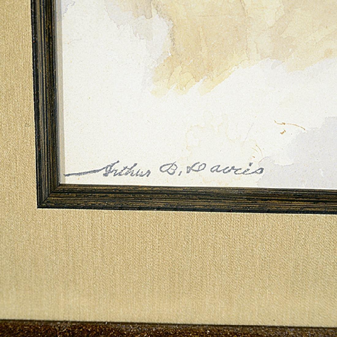 "Arthur Bowen Davies ""Portrait of a Woman"" watercolor - 2"