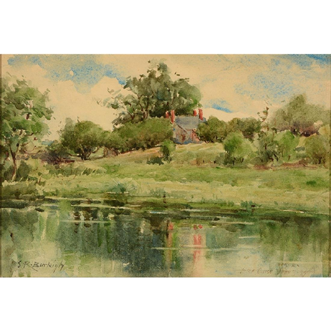 "Sydney Burleigh ""English Countryside"" watercolor"