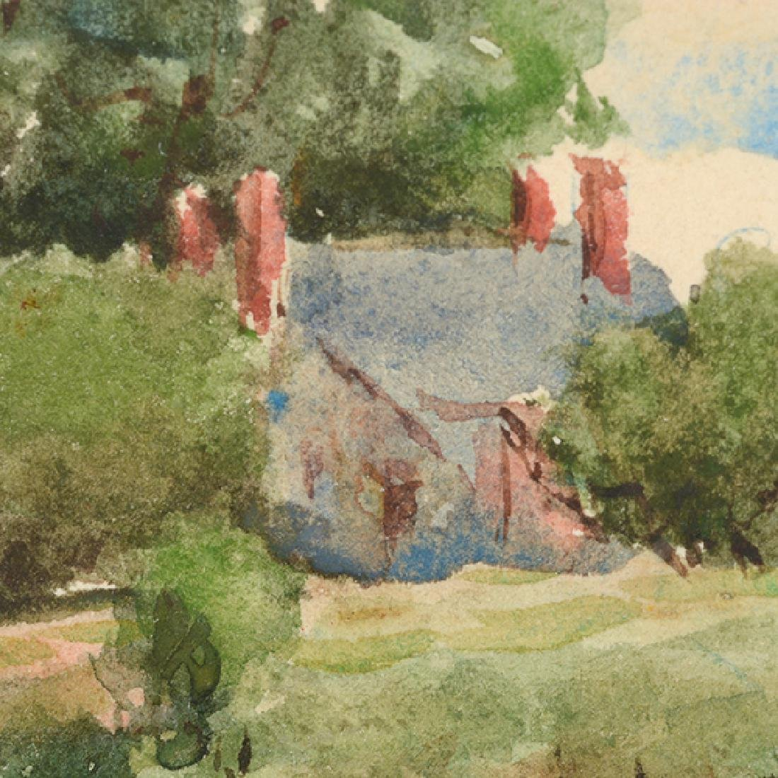 "Sydney Burleigh ""English Countryside"" watercolor - 4"