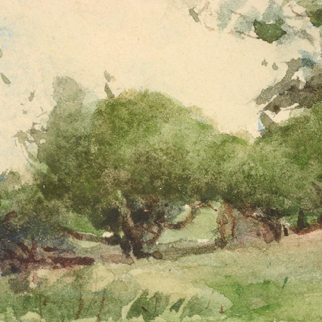 "Sydney Burleigh ""English Countryside"" watercolor - 5"