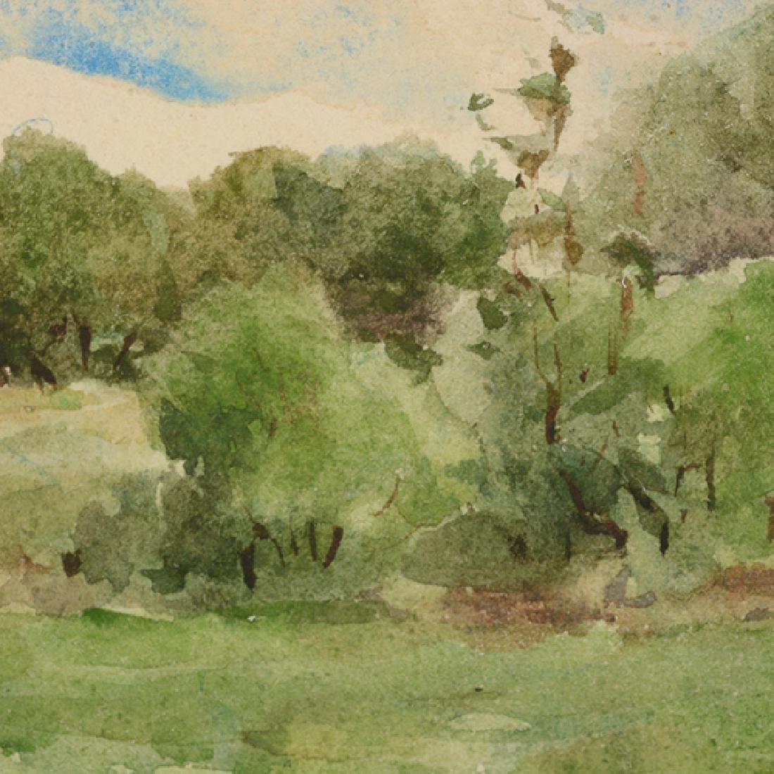 "Sydney Burleigh ""English Countryside"" watercolor - 6"