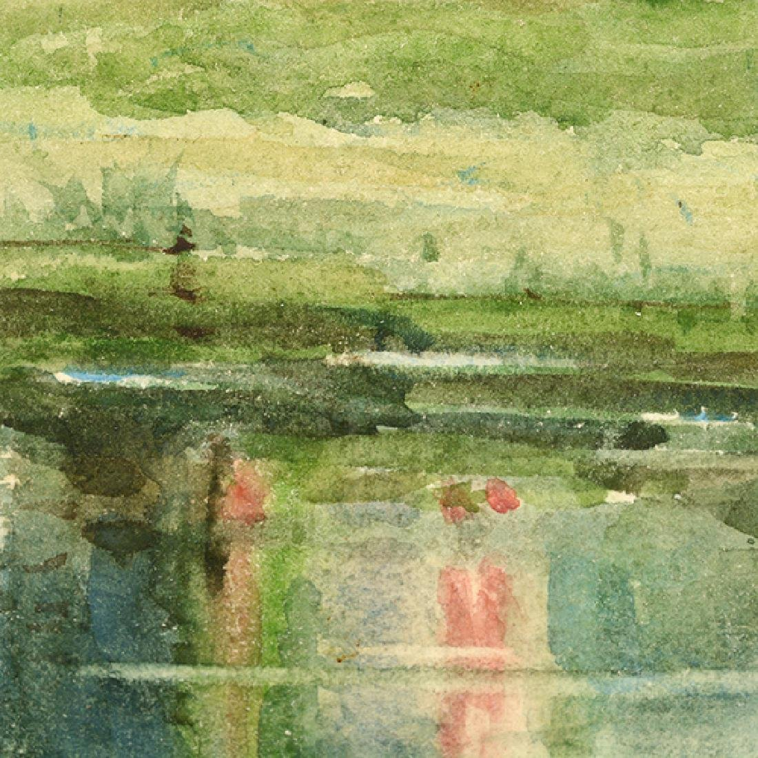 "Sydney Burleigh ""English Countryside"" watercolor - 7"