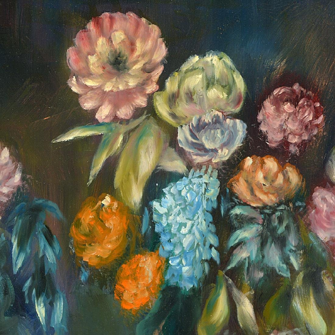 "Robert Kulicke ""Floral Still Life"" oil on masonite - 4"
