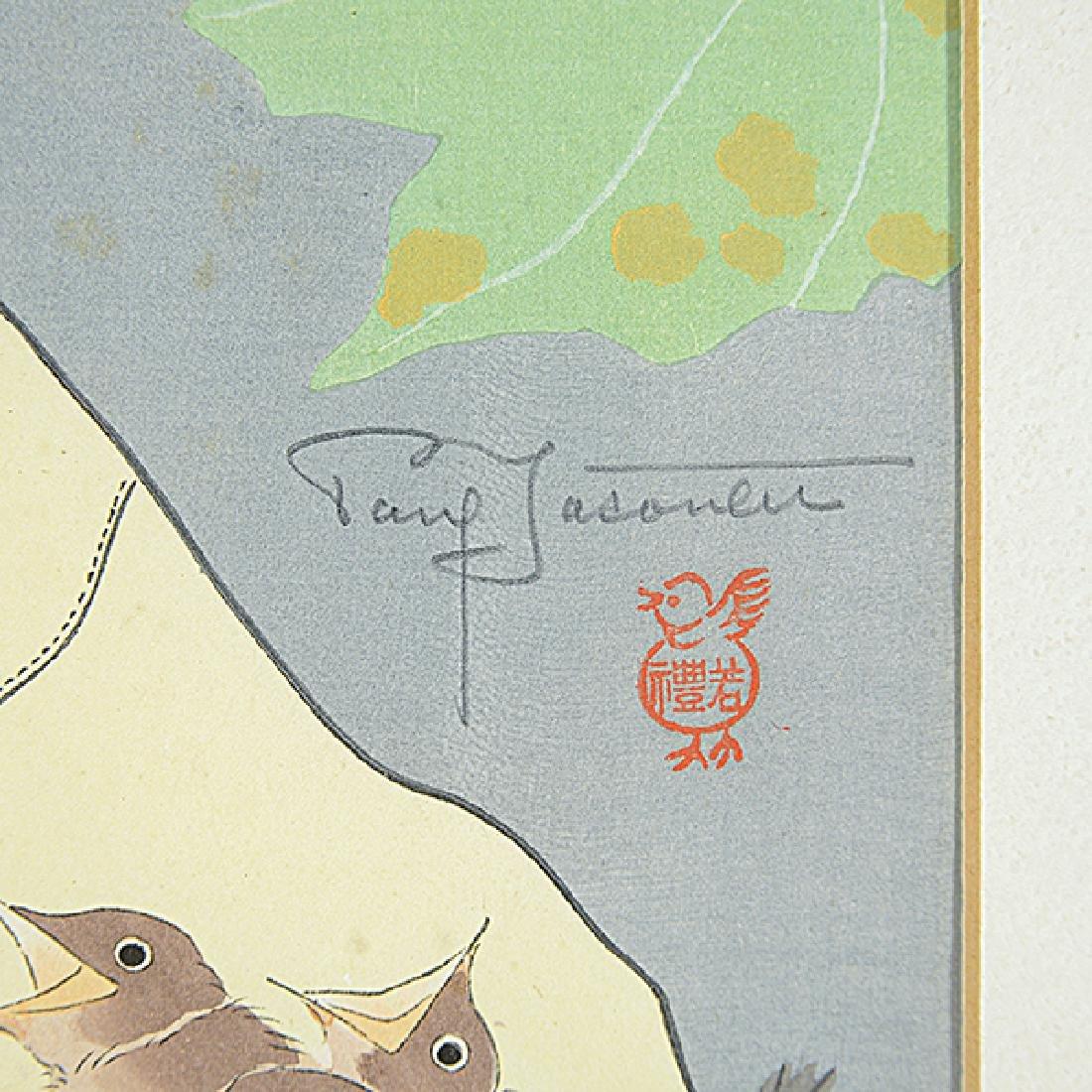 "Paul Jacoulet 7 ""Figural Genre scenes"" color woodblock - 2"