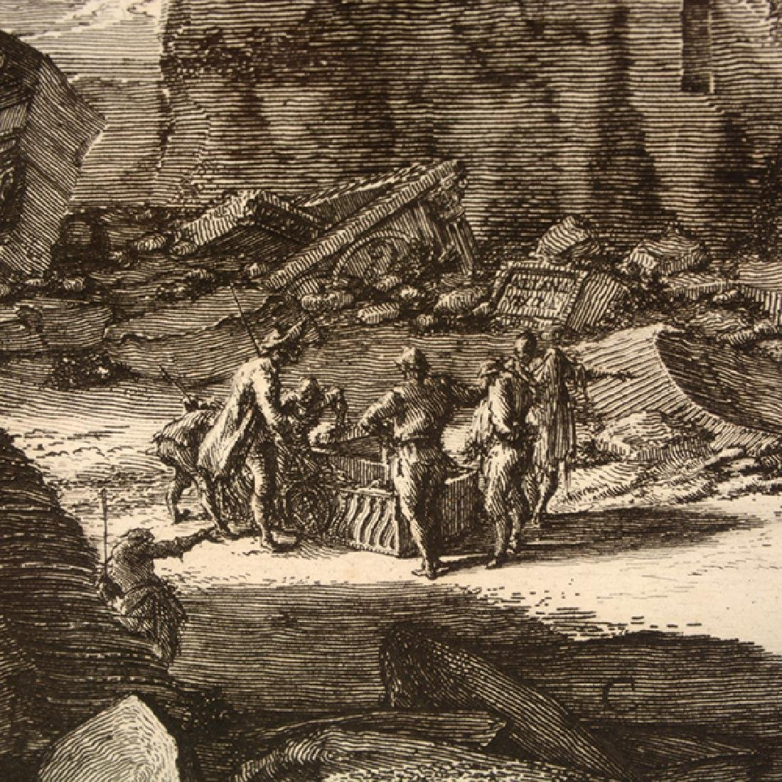 """After Giovanni Piranesi four """"Roman Ruins"""" etching - 10"""