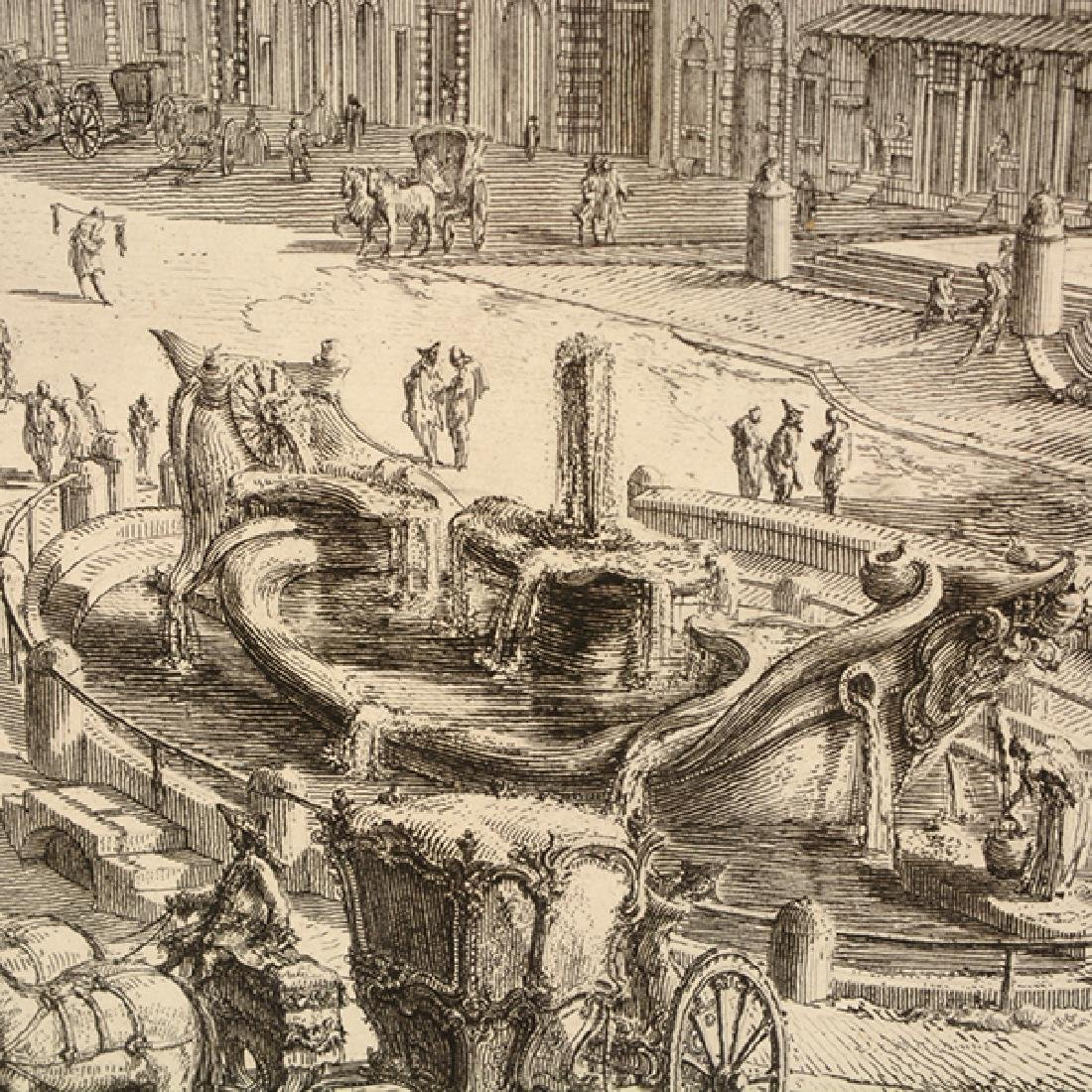 """After Giovanni Piranesi four """"Roman Ruins"""" etching - 2"""