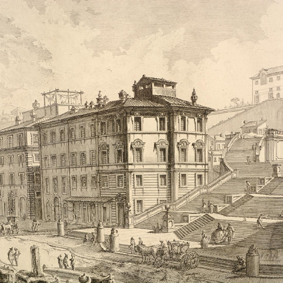 """After Giovanni Piranesi four """"Roman Ruins"""" etching - 3"""