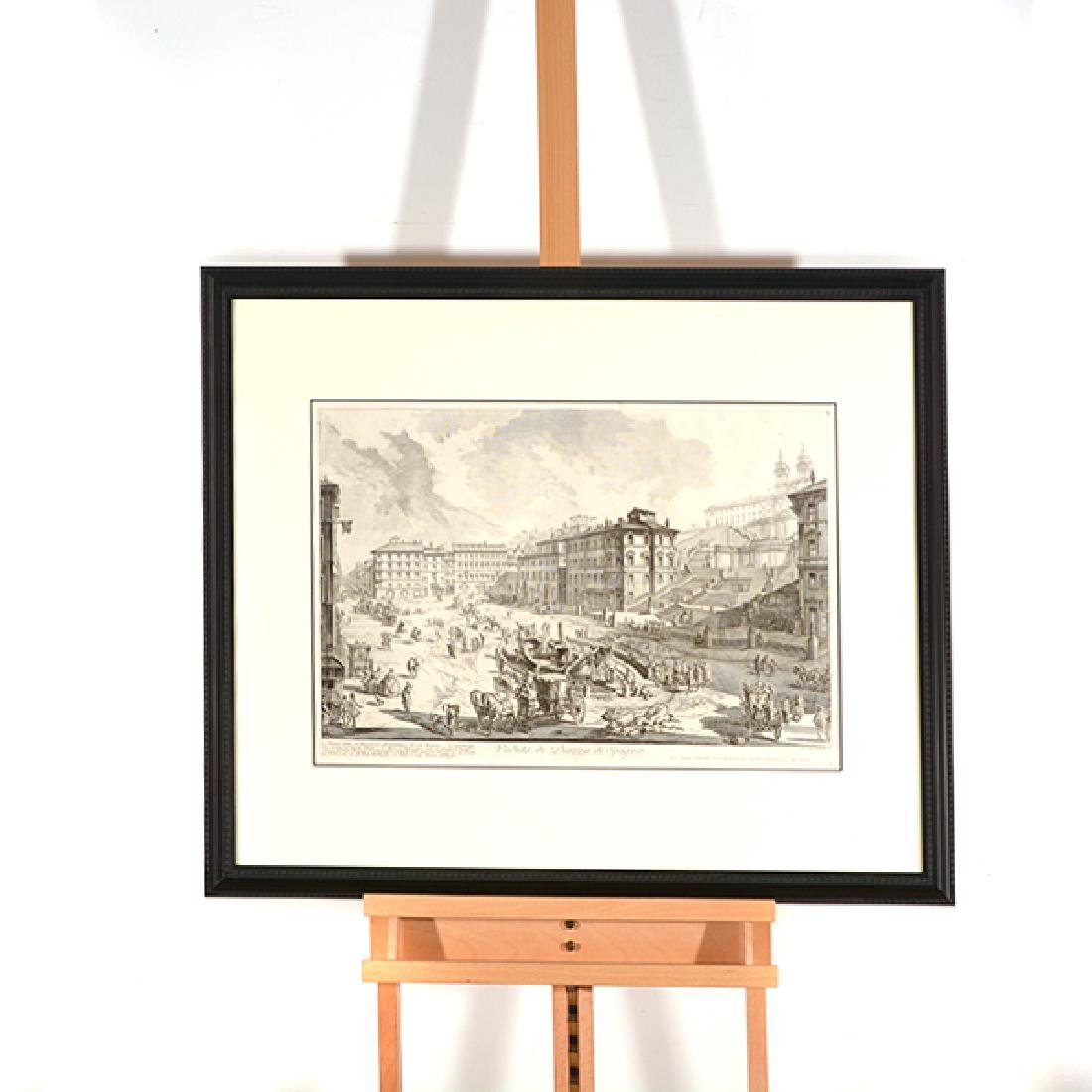 """After Giovanni Piranesi four """"Roman Ruins"""" etching - 4"""