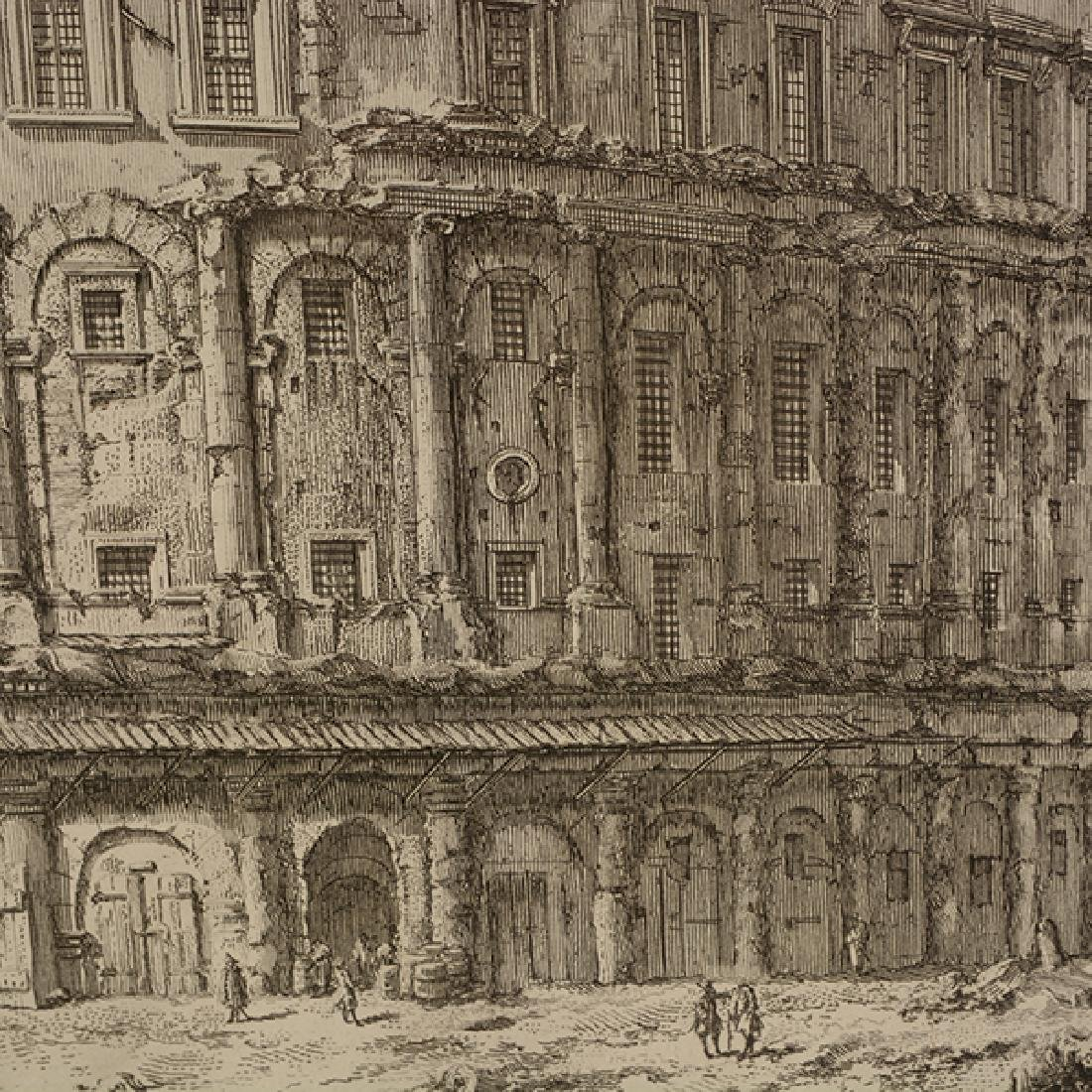 """After Giovanni Piranesi four """"Roman Ruins"""" etching - 5"""