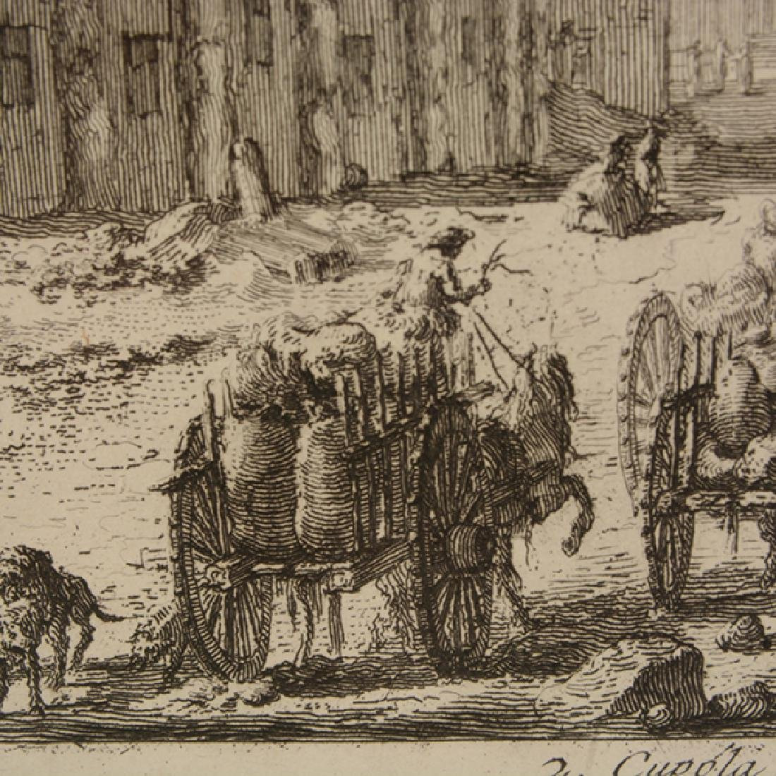 """After Giovanni Piranesi four """"Roman Ruins"""" etching - 6"""