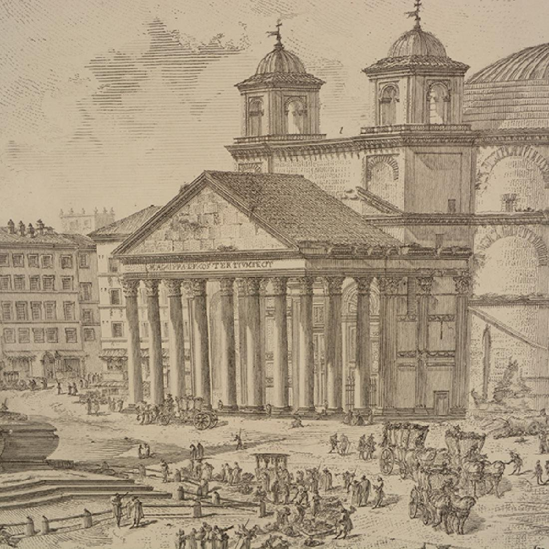 """After Giovanni Piranesi four """"Roman Ruins"""" etching - 8"""