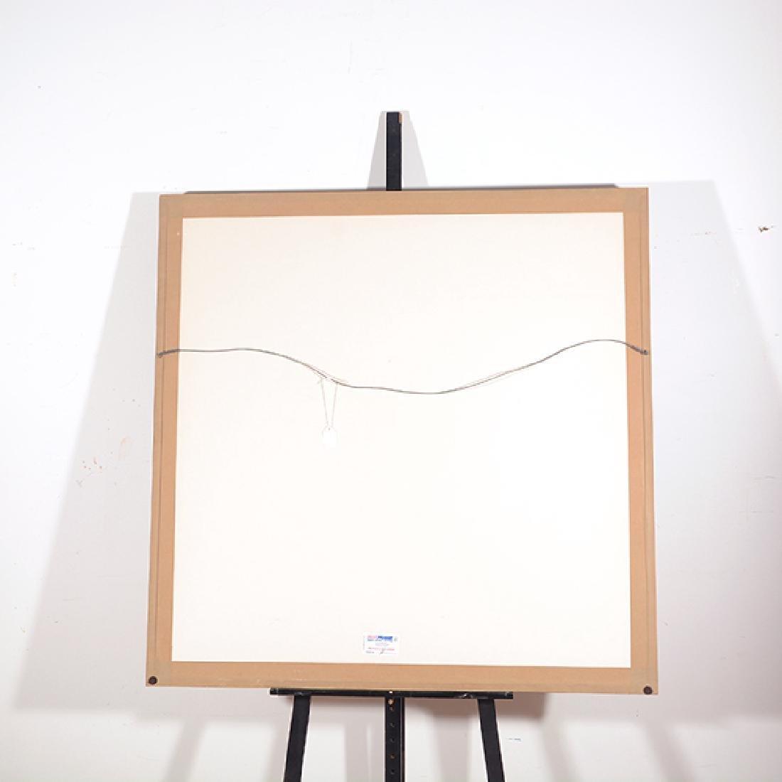 "Byron Galvez ""Uno Paso"" acrylicograph on paper - 10"