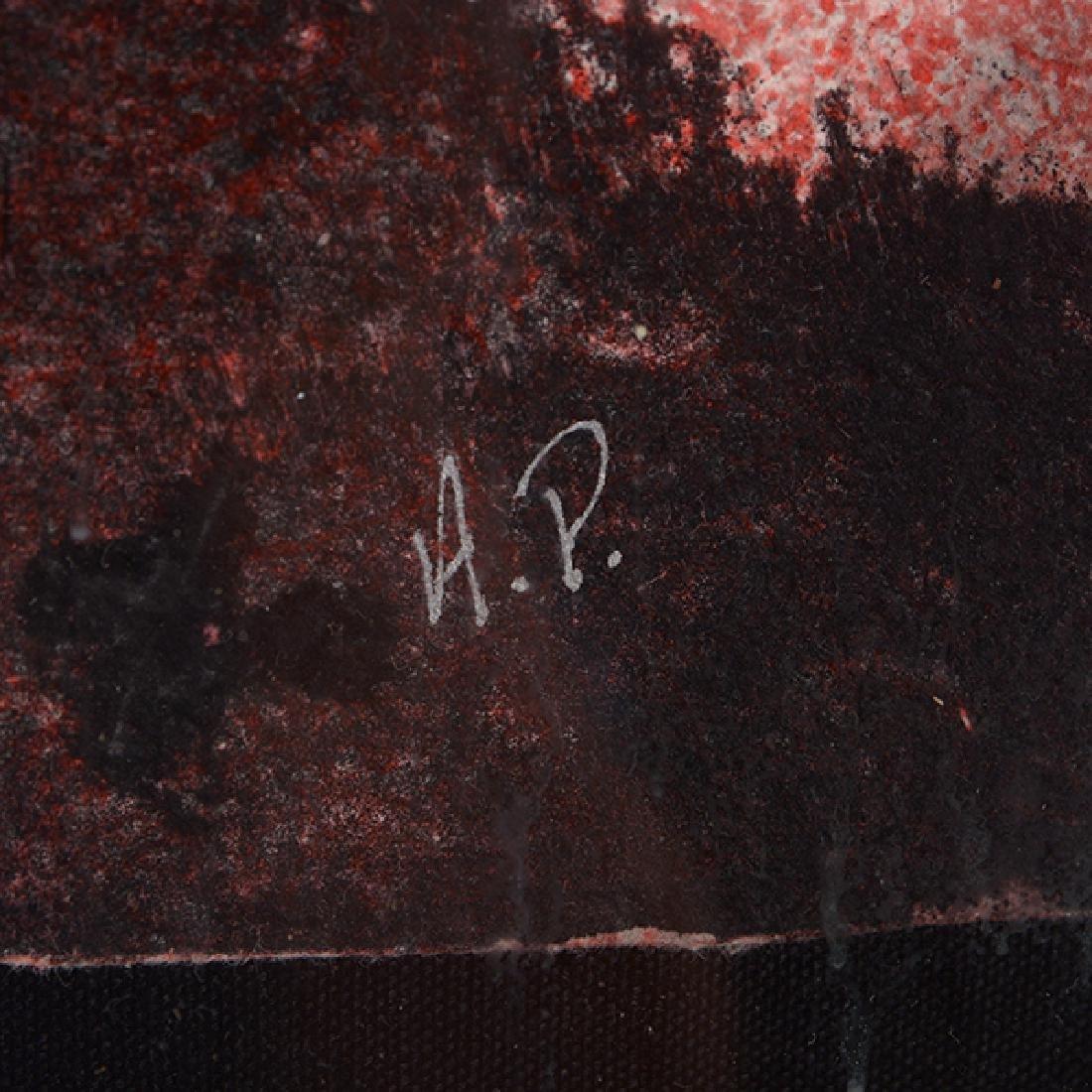 "Byron Galvez ""Uno Paso"" acrylicograph on paper - 3"
