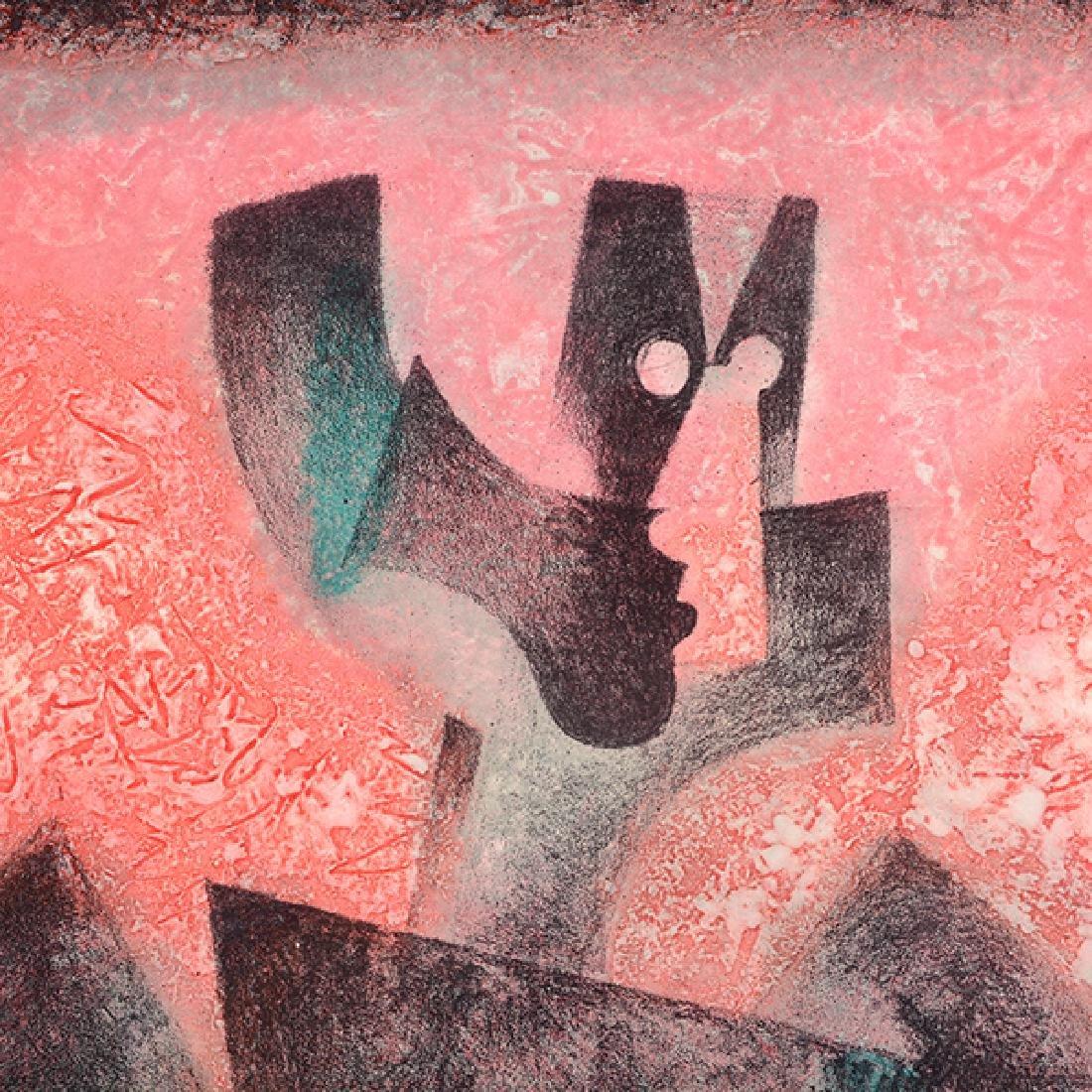 "Byron Galvez ""Uno Paso"" acrylicograph on paper - 4"