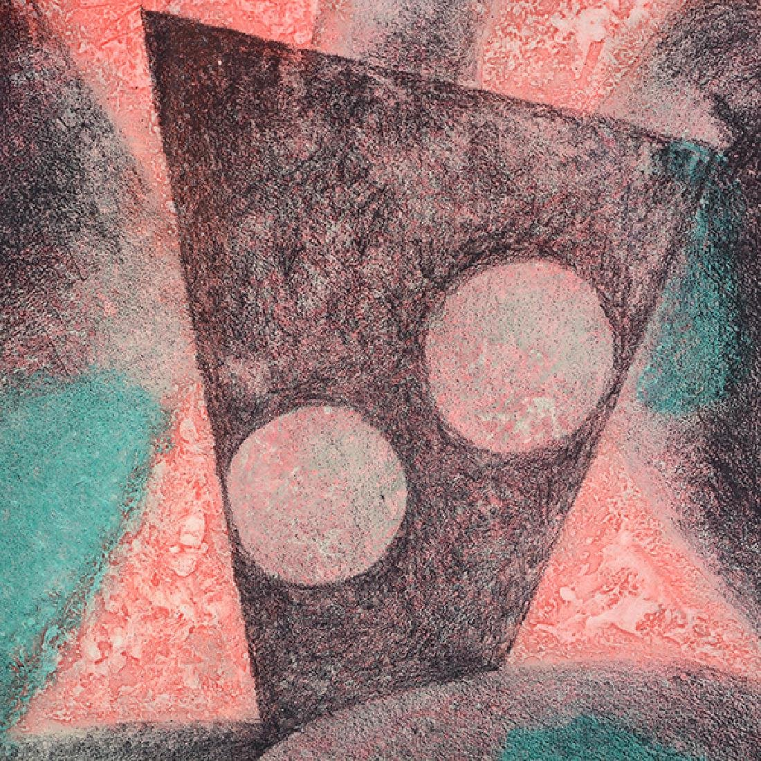 "Byron Galvez ""Uno Paso"" acrylicograph on paper - 5"