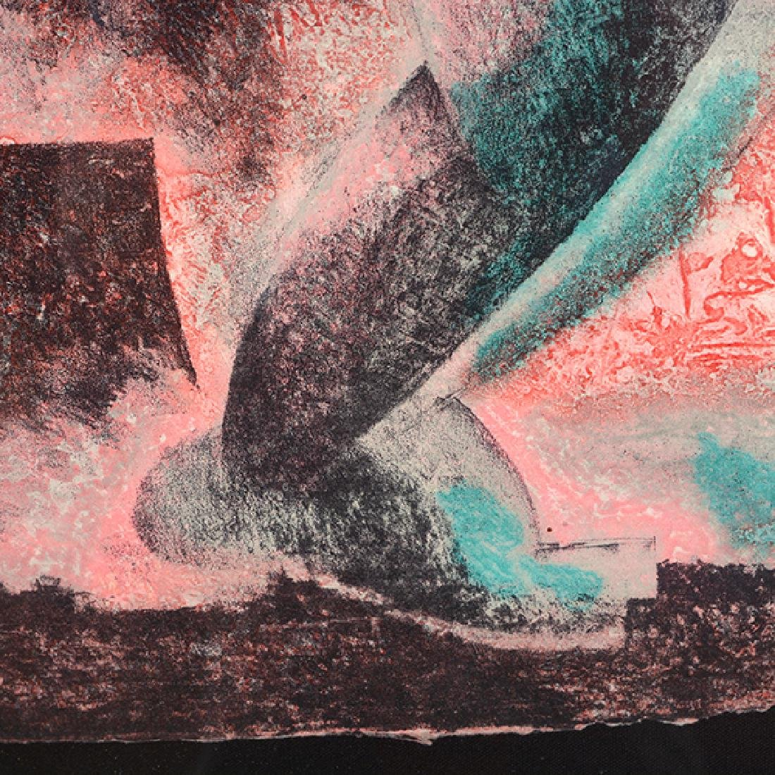 "Byron Galvez ""Uno Paso"" acrylicograph on paper - 7"