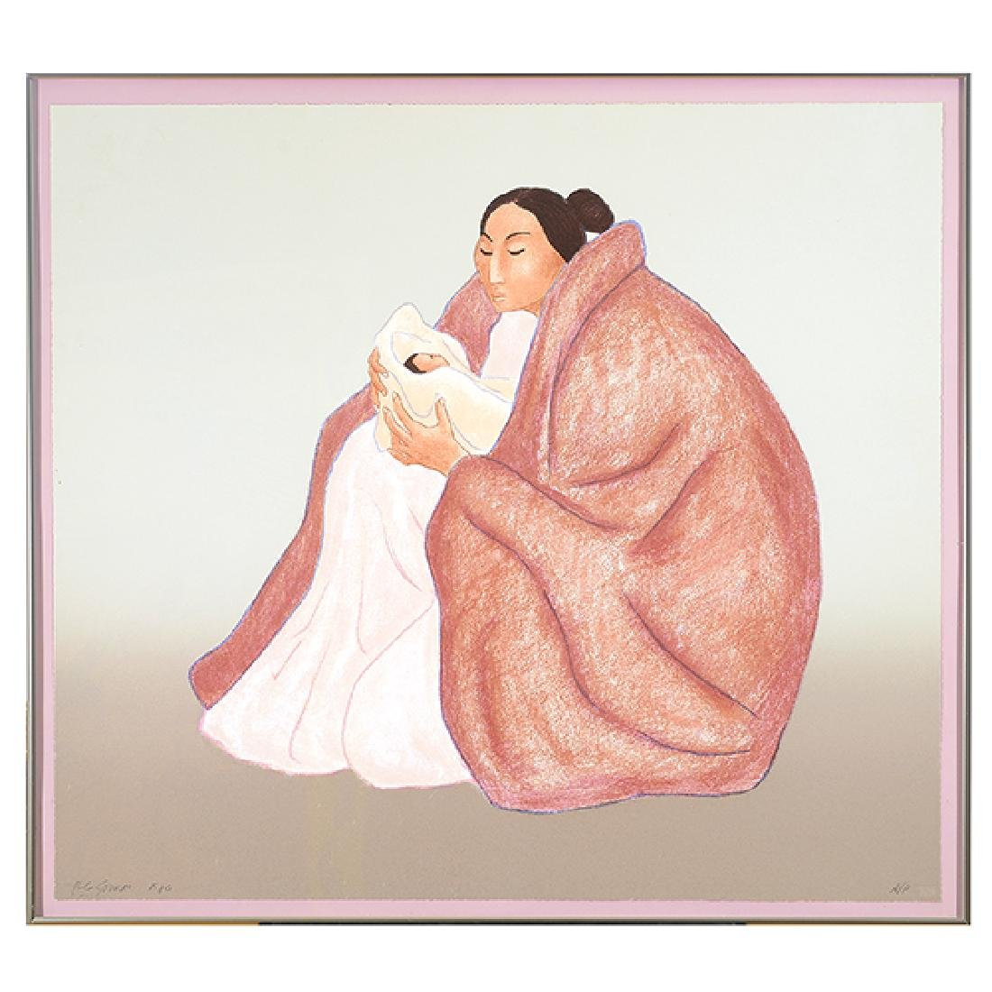 "RC Gorman ""Mother and Child"" lithograph"