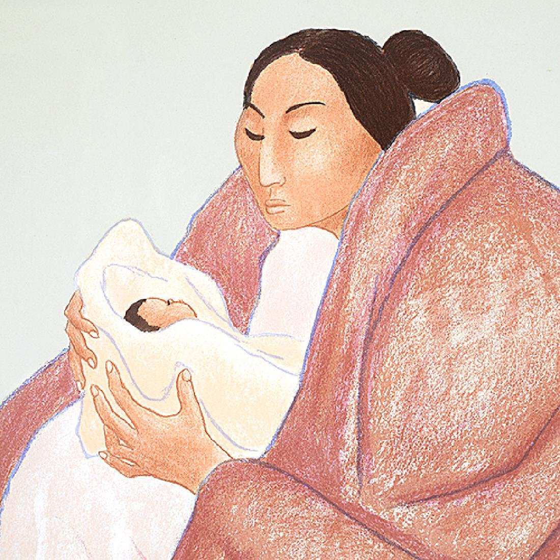 "RC Gorman ""Mother and Child"" lithograph - 3"