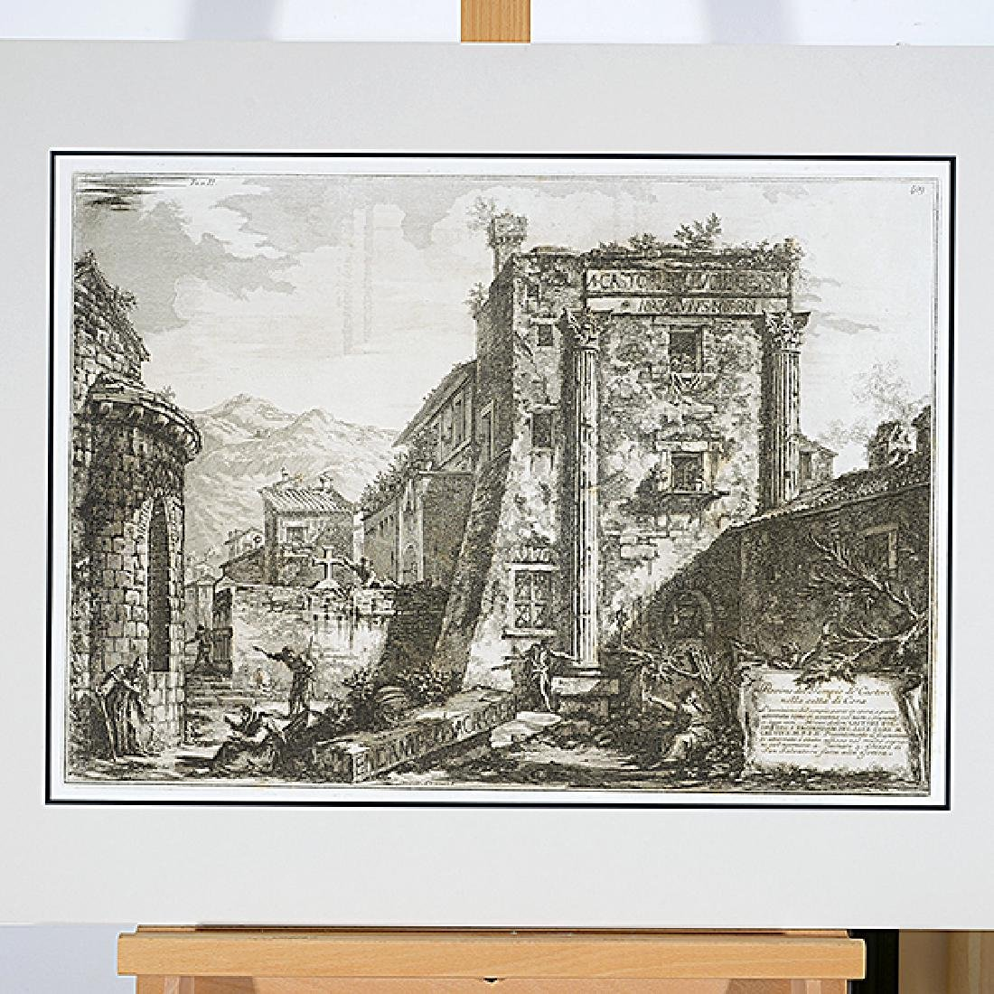 After Luigi Rossini and Giovanni Piranesi 10 unframed - 2