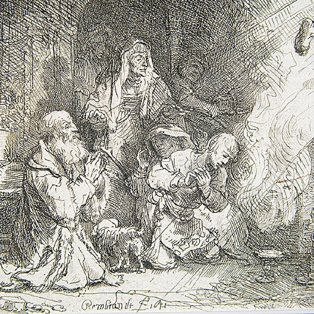"""After Rembrandt """"The Angel departing from the family of - 3"""